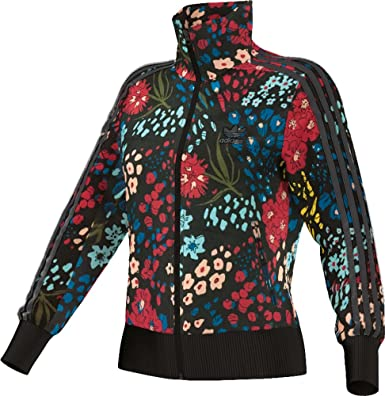 adidas originali donne olympic firebird floreale tuta sopra la giacca