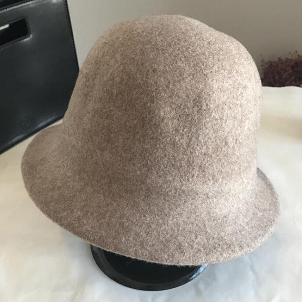 Modelos femeninos Otoño e invierno Sencillo Moda temperamento Sombrero de fieltro , brown
