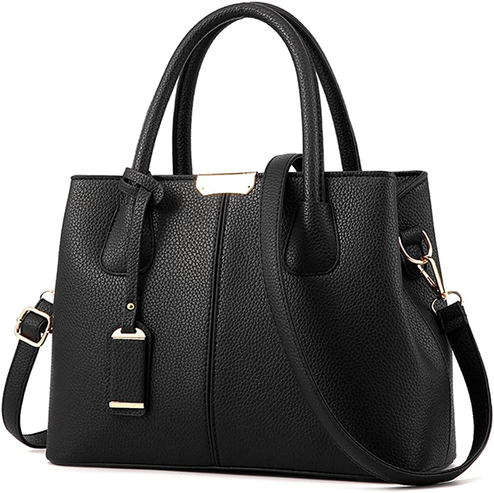 Black Leather Tote Bag Medium Leather Tote Leather Crossbody Bag Crossbody Bag Office Tote Black Leather Bag for Woman Cross Body Bag