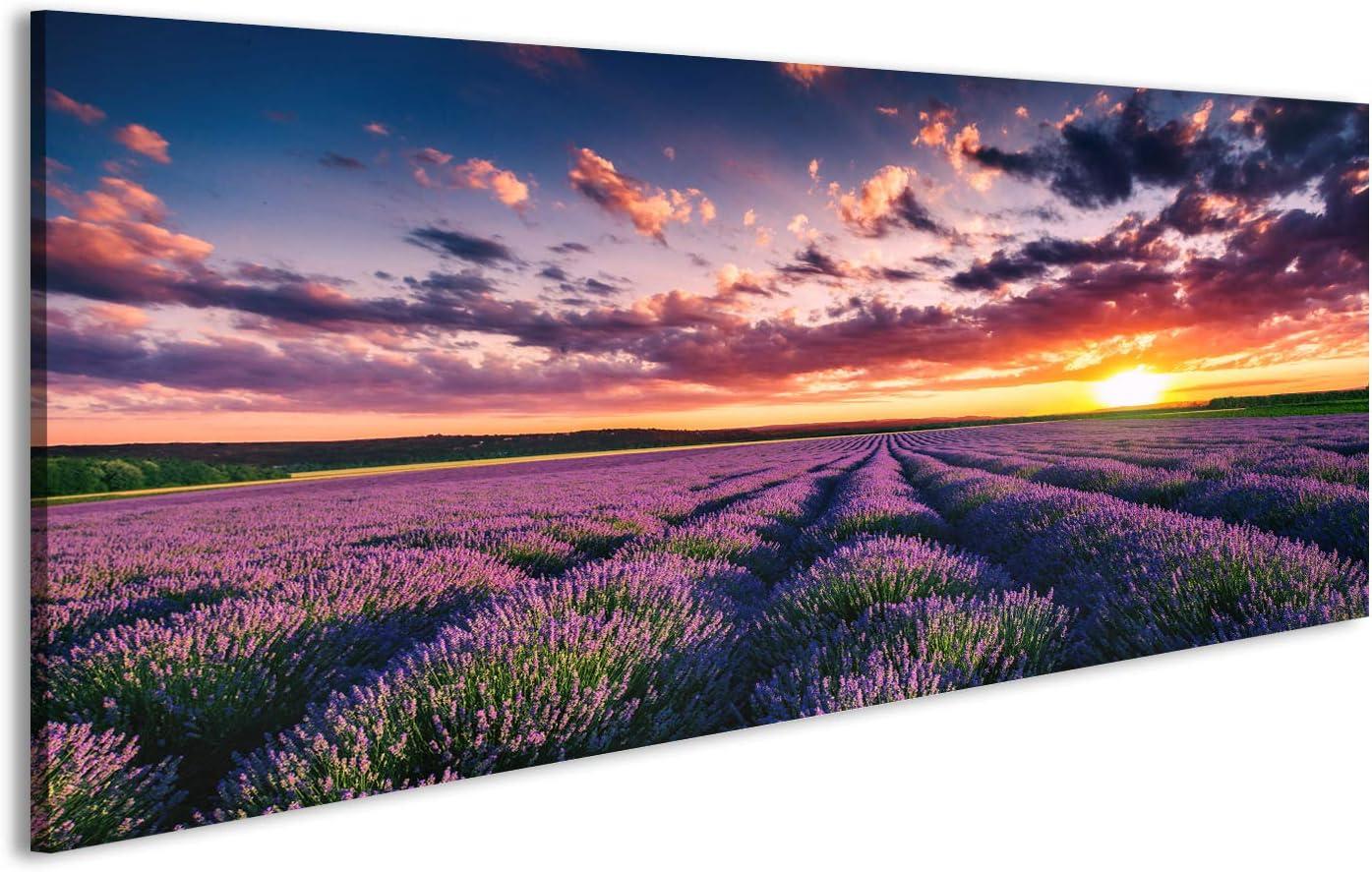 Lavendel y00332 Wand Deko Leinwand Bilder