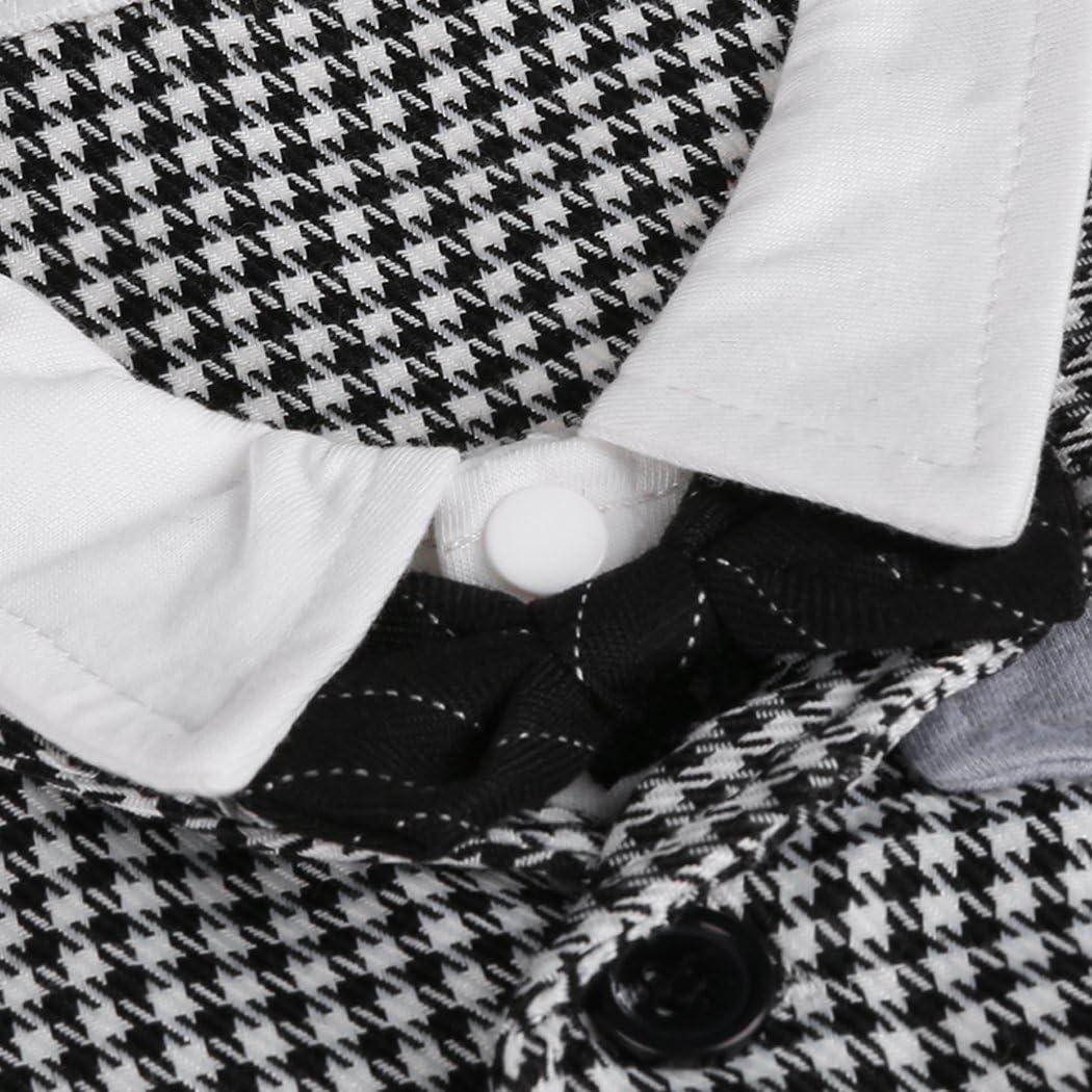 Smoking avec Papillon Blanche et Noire Taille 70-80 90 Un Adorable Cadeau pour Les Parents Qui Ont des b/éb/és Grenouill/ère Smoking pour Petits gar/çons