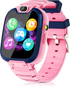 Kids Smart Watch for Boys Girls – Kids Smartwatch with Call SOS 14 Games Camera Video Player Music Player Torch Light Calculator 12/24 hr Touch Screen Children Smart Watch for Kids Age 4-12 (Pink)