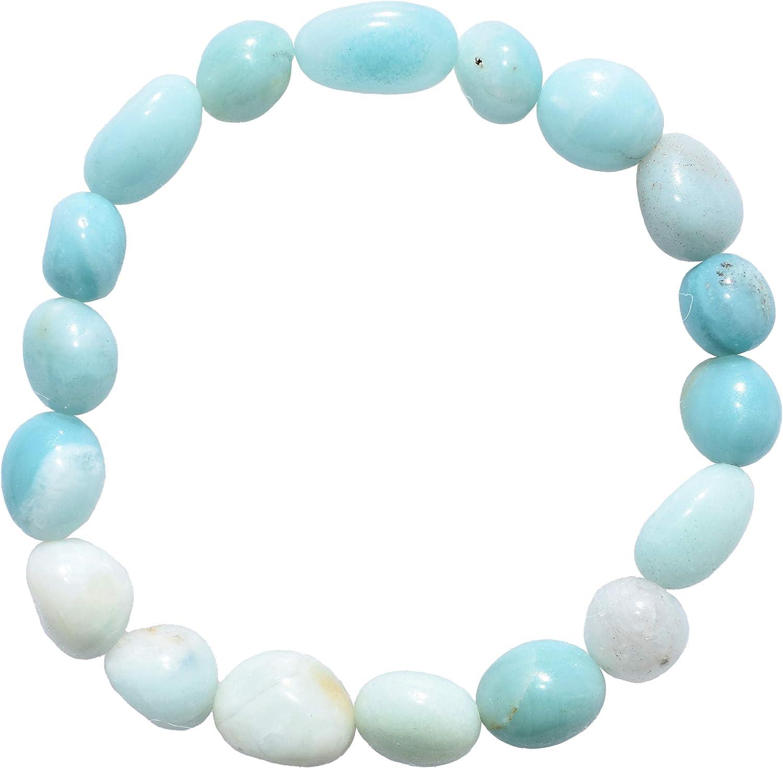 Beach Inspired Bracelet Women Stretch Bracelet Aqua Agate bracelet Gemstones bracelet Natural Stone Amazonite Crystal Bracelet