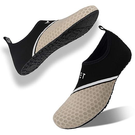eujiancai Mens Womens Water Sports Shoes Yoga Socks ...