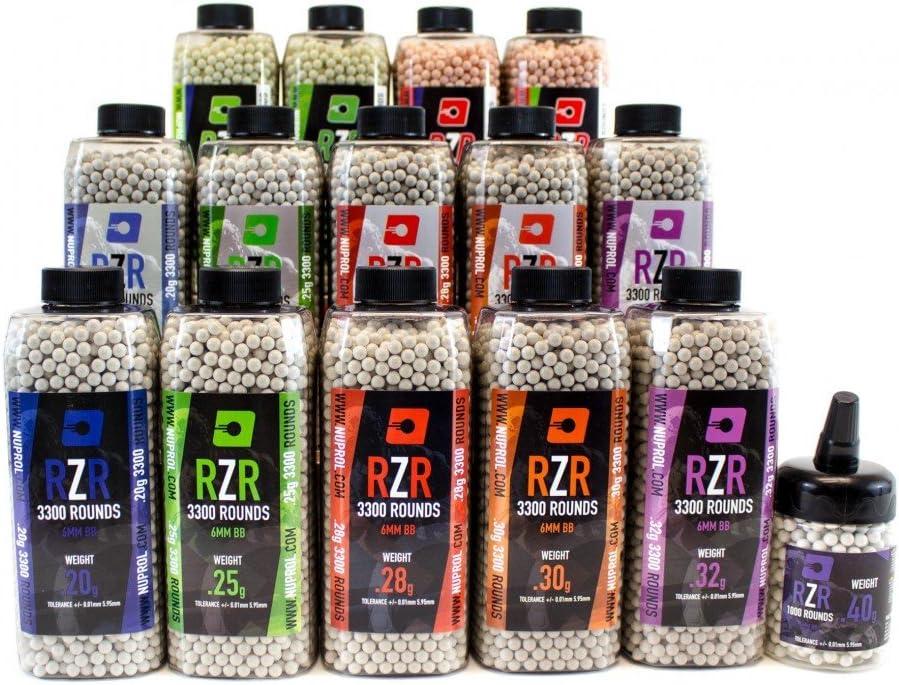 Nuprol RZR 3300rnd 0.25g BB/'s Highly Polished Airsoft High Grade 2 Bottles