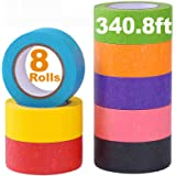 Colored Masking Tape, Rainbow Colors Painters Tape Colorful Craft Art Paper Tape for Kids Labeling Arts Crafts DIY…