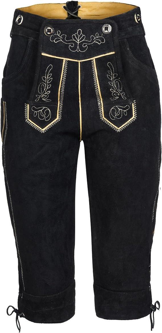 Trachtenbluse Carmen in ver Farben Damen Set Trachten Lederhose Shorts schwarz kurz mit Tr/äger