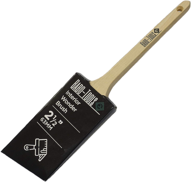 2,5 pulgadas, cepillo universal Babo-Tools Interior Wonder Brush Pincel profesional con cerdas de pl/ástico