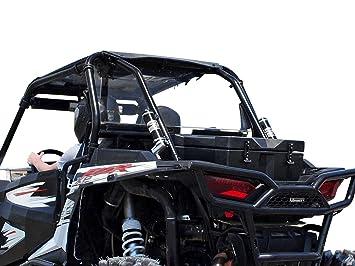 SuperATV Heavy Duty Standard Clear Rear Windshield for Polaris RZR XP 1000 / Turbo / 1000