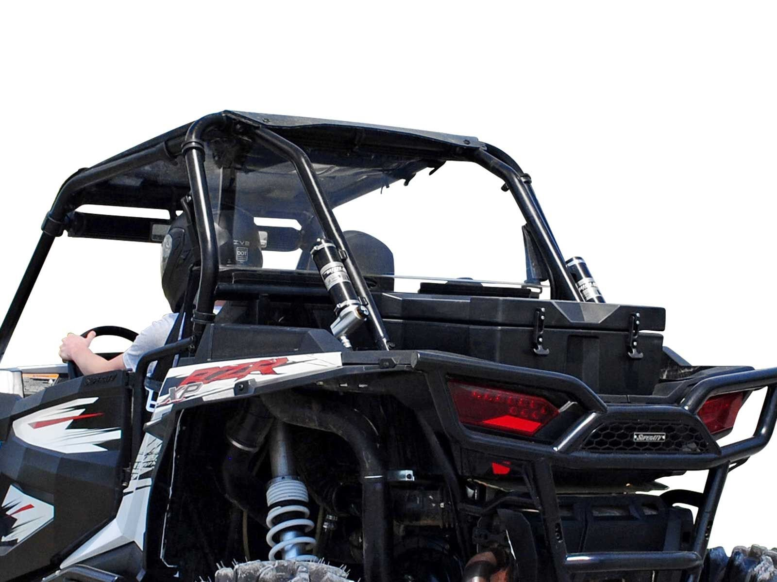 SuperATV Heavy Duty Clear Polycarbonate Rear Windshield for Polaris RZR XP 1000 / XP 4 1000 (2014-2018) - Easy to Install!