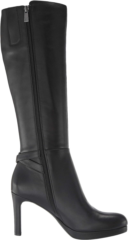 Naturalizer Damen Tai High Shaft Boots Kniehoher Stiefel Schwarzes Leder