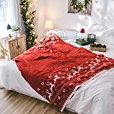 Dedeka Navidad Christmas Xmas Blanks 130x180cm Simple Deer Pattern Christmas Decorative Bed/Sofa Manta Manta