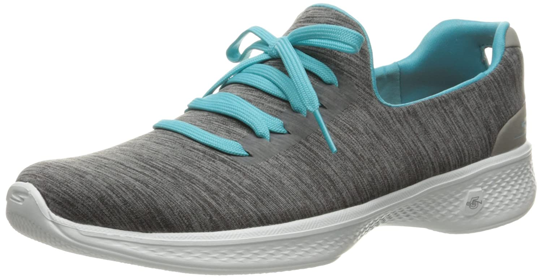Skechers Damen Go Walk 4-A.d.c Sneaker, Grau  39.5 EU|Grau (Gybl)