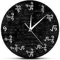 The Nines Math Wall Clock Number 9 Math Modern Clock Wall Watch Math Equation Clock of 9s Formulas Mathematical Wall Art…