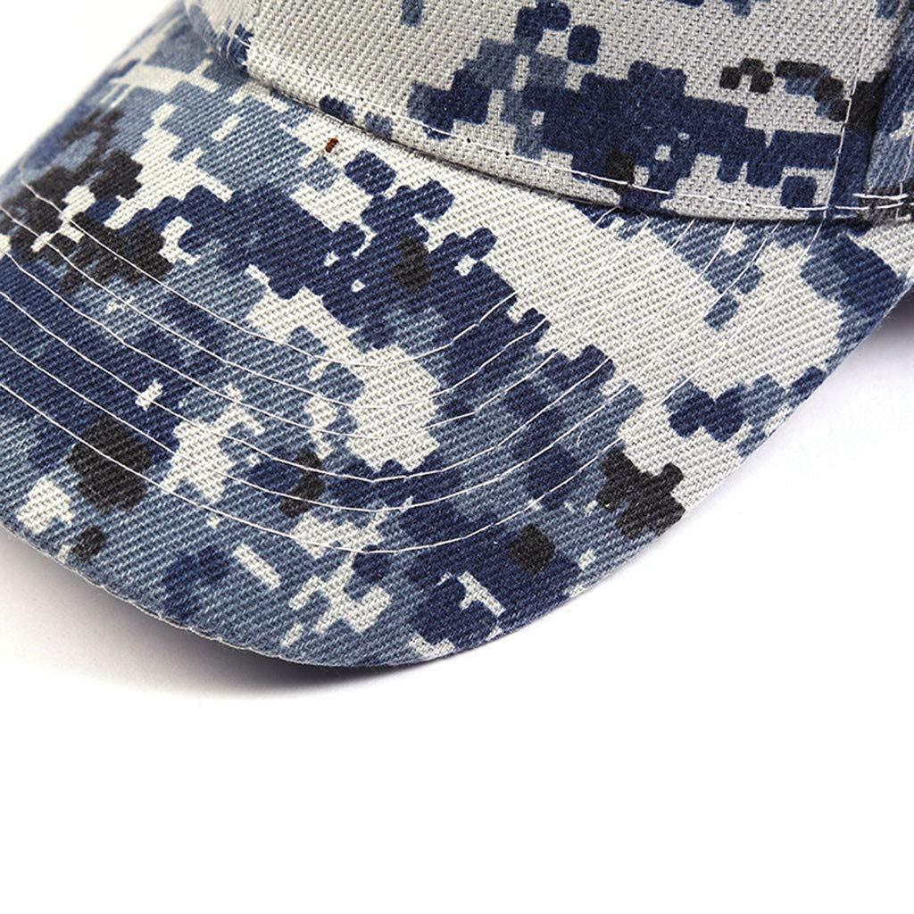 Yezijin/_hat YEZIJIN Unisex Outdoor Camouflage Trucker Plain Baseball Visor Cap Dad Hat