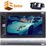 Rear View Camera Included!!! 2 Din Car Radio Audio Stereo DVD CD Player