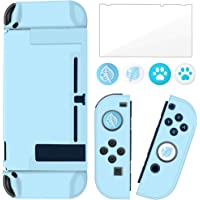 BRHE Dockable Switch Protective Case Cover for Nintendo Switch Joy-Con Controllers with Glass Screen Protector, Anti…