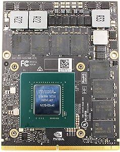Genuine New GDDR5 8GB Graphics Video Card NVIDIA Quadro P4000 for Dell Precision M6800 7710 7720 7730 HP ZBook 17 G4 G5 Mobile Workstation Laptop, GPU MXM VGA Board Upgrade Replacement Parts