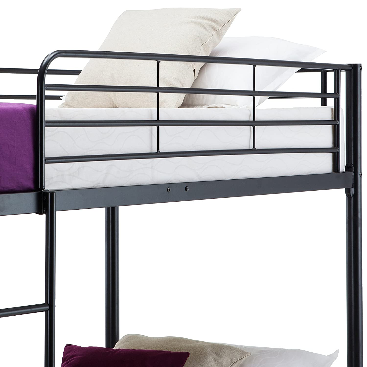 Mecor Metal Bunk Bed Twin Over Twin Easy Assembly With Removable