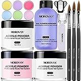 Morovan Acrylic Nail Kit Acrylic Powder and liquid set with 6colored Acrylic Nail powder System for Nail Extension and Decora