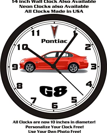 PONTIAC G8 WALL CLOCK-FREE USA SHIP -Choose 1 of 5