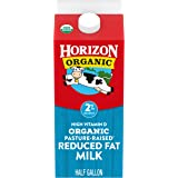 Horizon Organic, 2% Reduced Fat Milk, Ultra Pasteurized, Half Gallon 64 oz, Organic Milk, 50% More Vitamin D than Typical Red