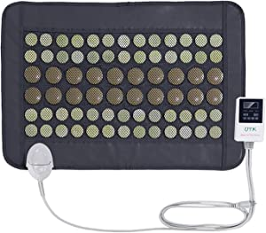 """UTK® Far Infrared Natural Jade and Tourmaline Heating Pad Mats for Pain Relief Small Pro (23.5""""X16"""") With Smart Controller Memory Function Auto Shut Off Timing Setting [FSA or HSA] Travel Bag Included"""