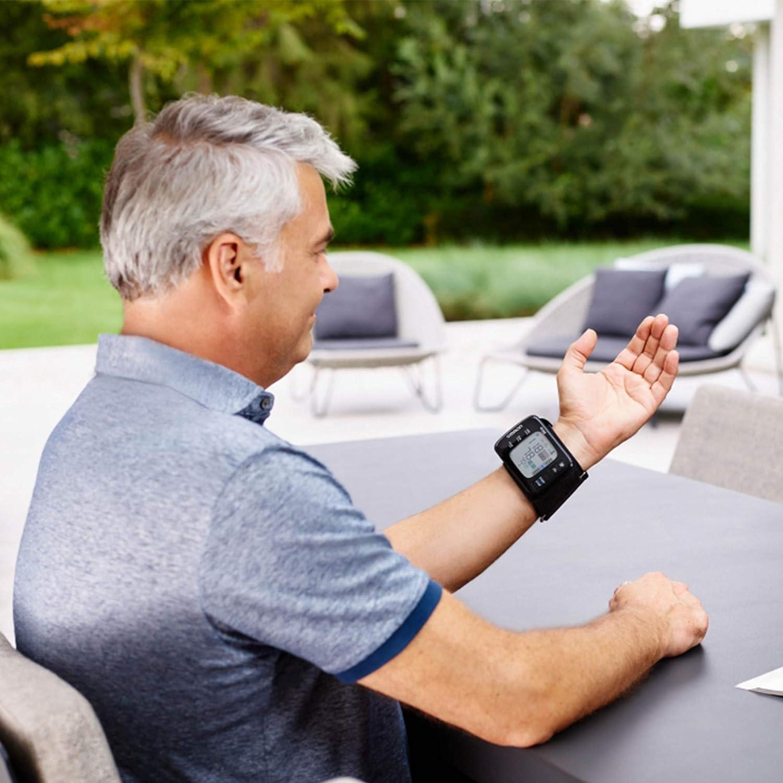 Omron RS7 Intelli IT - Tensiómetro de muñeca, Bluetooth con aplicación Omron Connect para móviles, negro: Amazon.es: Salud y cuidado personal