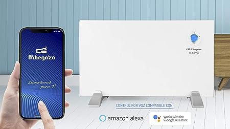 1000 W conexi/ón inal/ámbrica mediante Orbegozo APP Orbegozo REW 1000 programable Panel radiante digital Wi-Fi pantalla digital LCD