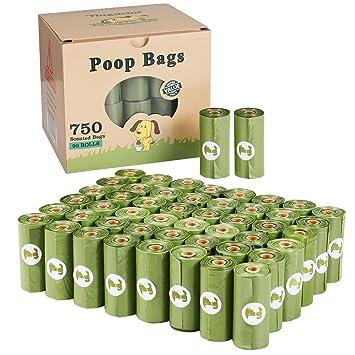 yingdelai Bolsas de residuos para Perros, 50 Rollos (750 ...