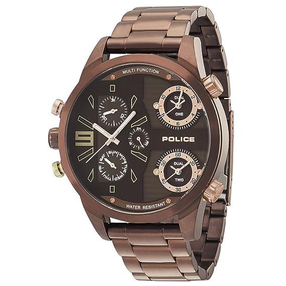 Police P14374JSBN-12M - Reloj de pulsera para hombre, color cobre: Amazon.es: Relojes