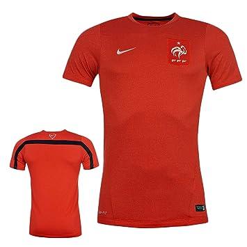 Nike Hombre Francia FFF fútbol FIFA escuadrón formación Superior Equipo Rojo Jersey 578733, Hombre Niños