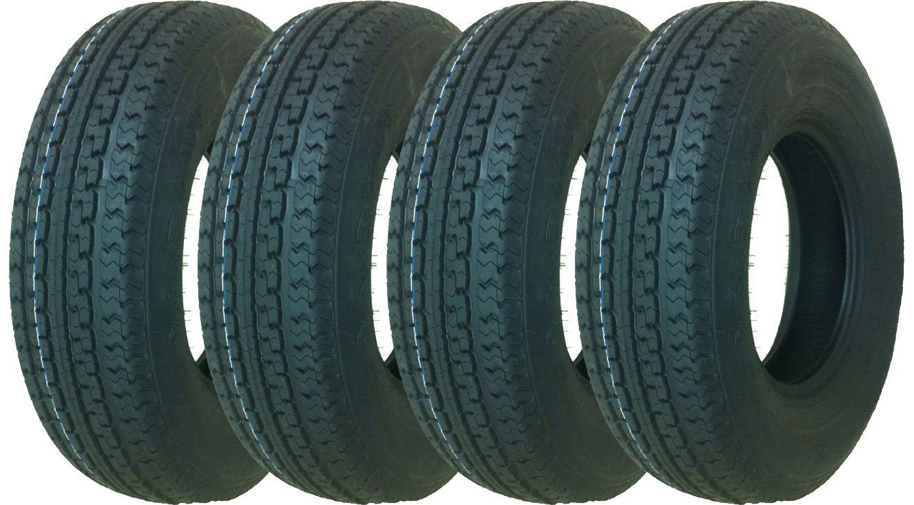 4 New Premium Sure Trac Trailer Tires ST235/85R16 Radial 12PR Load Range F- 11090 by Sure Trac (Image #1)