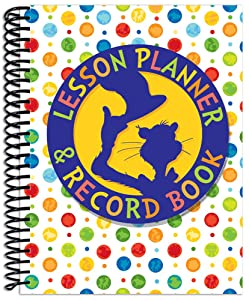Eureka Dr. Seuss Cat in the Hat Back to School Classroom Supplies Record and Lesson Plan Book for Teachers, 8.5'' x 11'', 40 Weeks