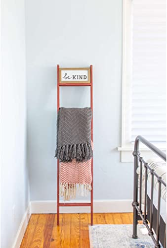 BarnwoodUSA Reclaimed Wood Bookcase Ladder 5 ft
