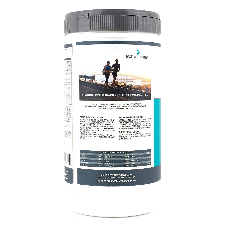 Designer Whey Protein Powder, French Vanilla, 2 Pound, Non GMO