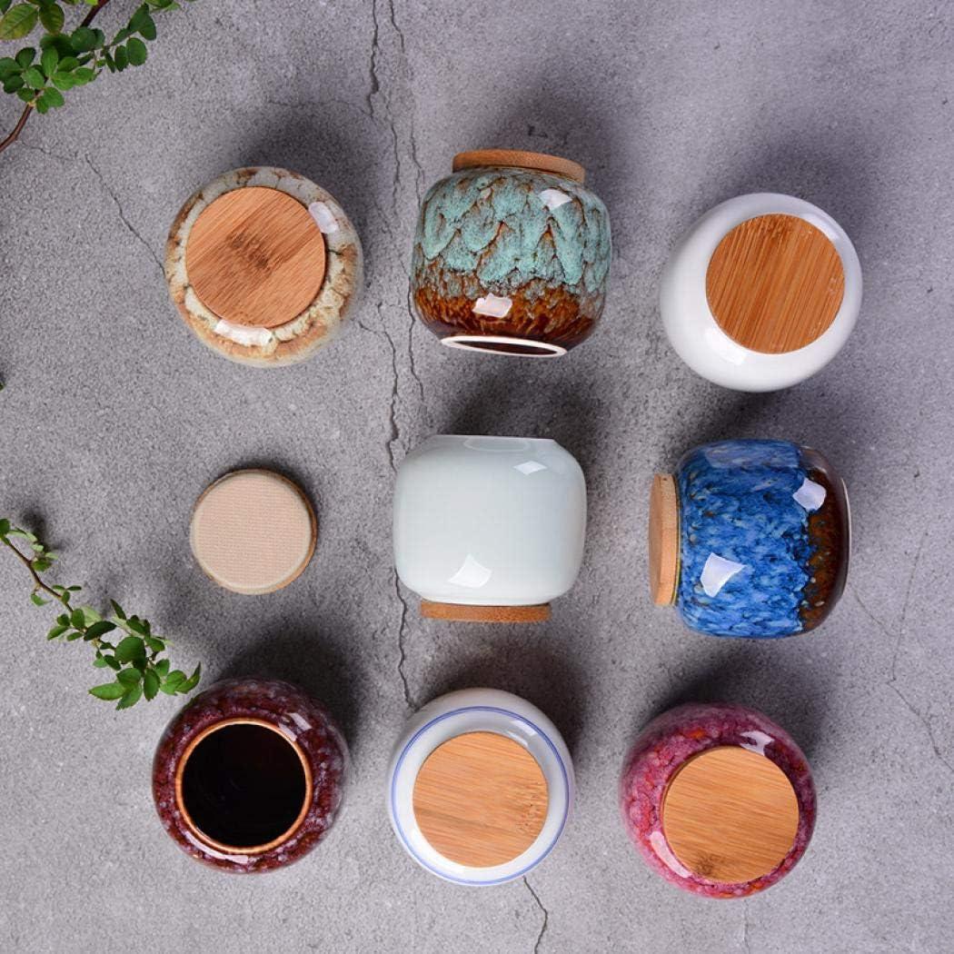 Azzurro. miele per t/è Mini contenitori ermetici per t/è in ceramica taglia unica Ceramica caff/è semi