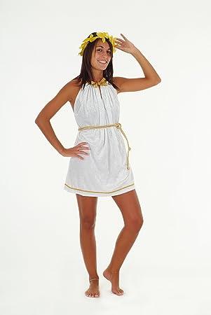 Disfraz de griega como romana para mujer talla L vestido sexy Toga
