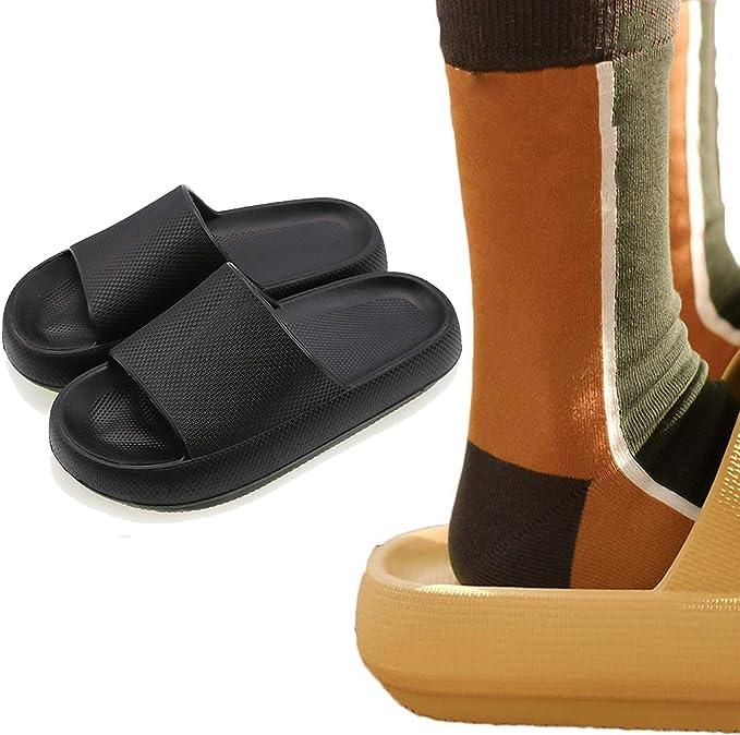 HUGS IDEA Women Slippers Slide Sandals Non Slip Shower Sandal for Home Casual Footwear