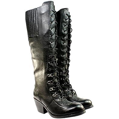 7fef5d063c1 WOMENS ROCKETDOG RACHEL TALL KNEE HIGH LOW HEEL MILITARY BOOTS SIDE ZIP NEW  3-8  Amazon.co.uk  Shoes   Bags