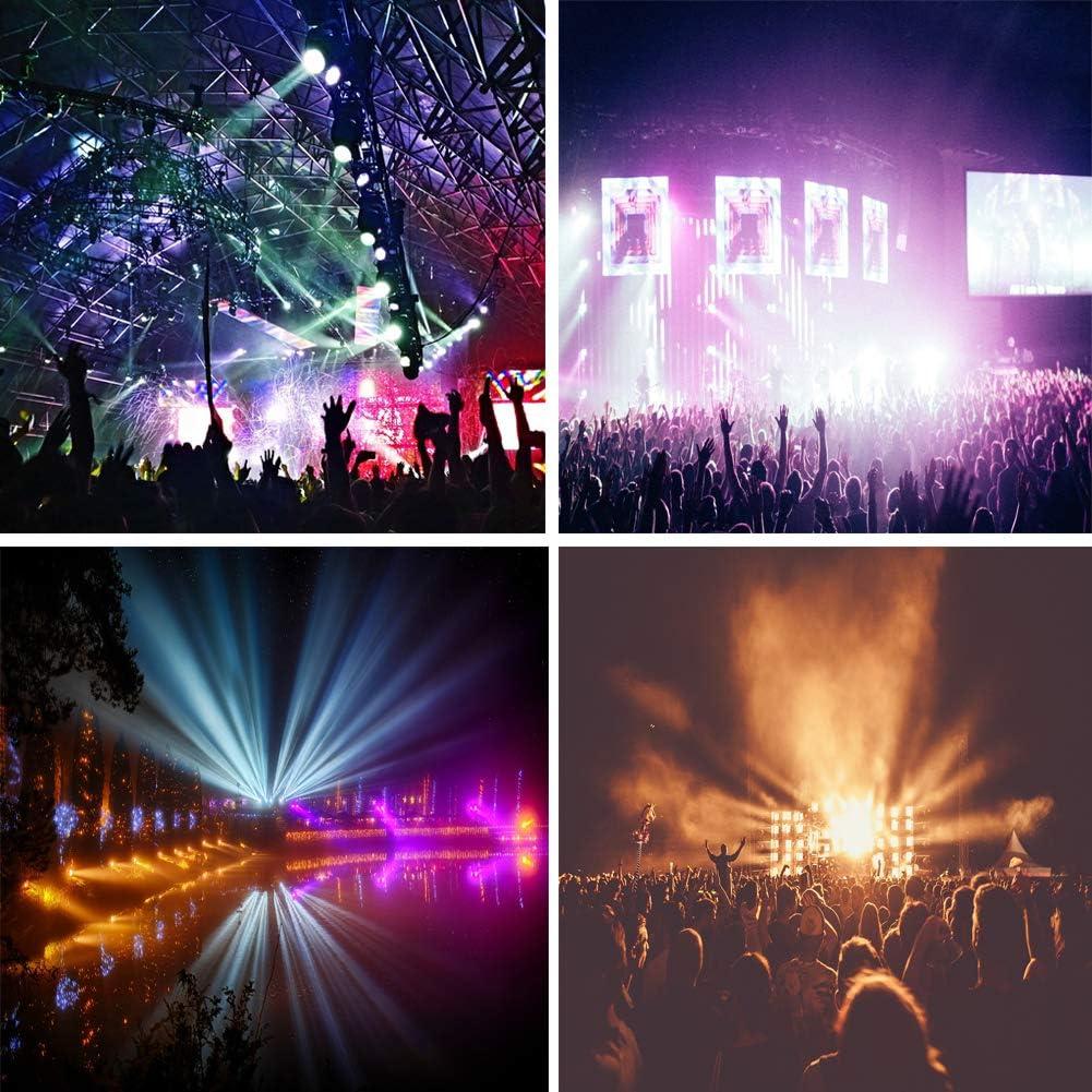2Pcs LED Stage Lights Sararoom DJ Par Light 80W RGB Full Color con control DMX512 Luces Discoteca para KTV Club Wedding Fiesta familiar Disco Bar Celebraci/ón