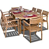 Amazonia Teak Coventry 9-Piece Teak Oval Dining Set
