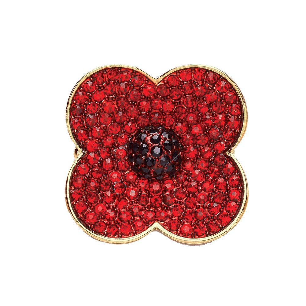 Poppy Brooches Red Flower Rhinestone Badges Banquet Remembrance Sunday Love Dream LD-BC-01-0001