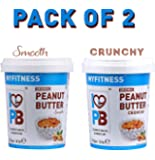 I LOVE PB My Fitness Peanut Butter Smooth Crunchy Combo, 510 g (Pack of 2)