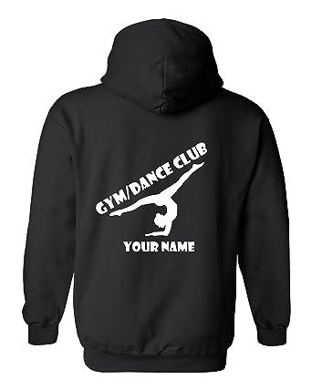 GYMNASTICS HOODIE PERSONALISED WITH YOUR CLUB NAME /& GYMNASTS NAME ADULT /& KIDS