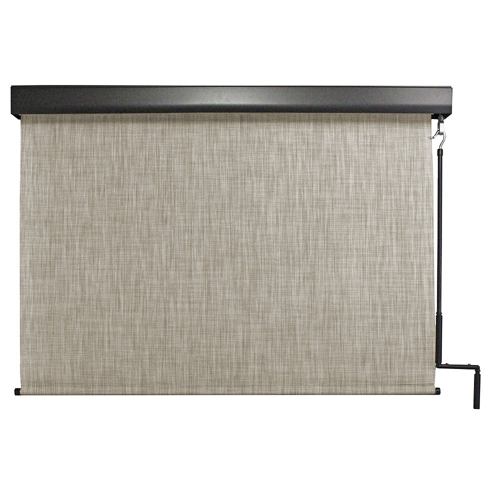 Keystone Fabrics Premium Outdoor Sun Shade, Cordless, 8-Feet by 8-Feet, Caribbean by Keystone Fabrics