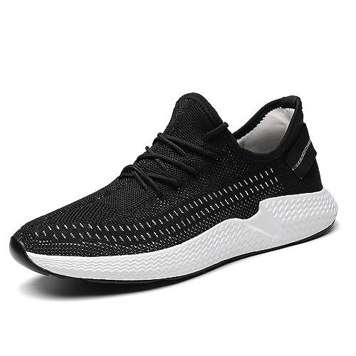 reputable site 85687 bd86a Kvovzo Mens Walking Athletic Shoes Comfort Casual Sneaker Trail Running Shoe  for Men Tennis Baseball Racquetball