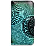 iPhone 6s Plus Case, Bfun Packing Bcov Green Circles of Doodles Leather Cover Case For iPhone 6 Plus/6S Plus