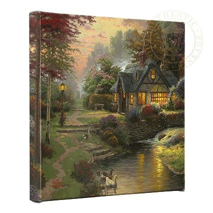 amazon com thomas kinkade stillwater cottage gallery wrap canvas rh amazon com