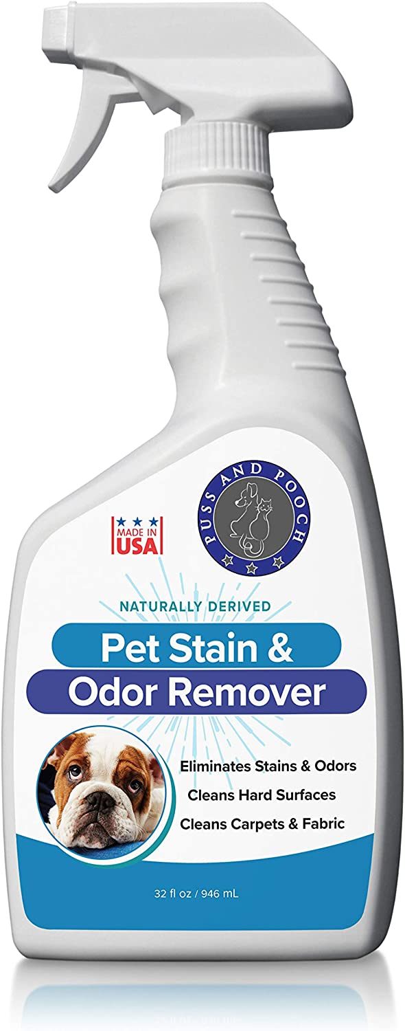 Puss and Pooch Pet Stain and Odor Remover, Natural Pet Odor and Stain Remover, Pet Odor Eliminator